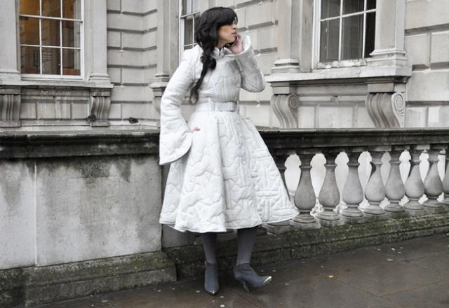 cinched_waist_big_skirt_coat_dress